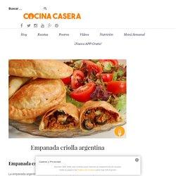 Empanada criolla argentina - Recetas de Cocina Casera - Recetas fáciles y sencillas