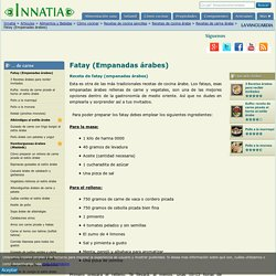 Receta de fatay (empanadas árabes)