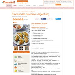 Empanadas de carne (Argentine) : Recette d'Empanadas de carne (Argentine)