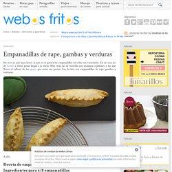 Empanadillas de rape, gambas y verduras