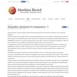Empathie, altruisme et compassion - 1