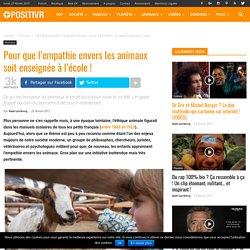 Pour que l'empathie envers les animaux soit enseignée à l'école !