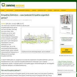 Empathie-Definition & Empathie-Test
