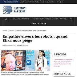 Empathie envers les robots : quand Eliza nous piège