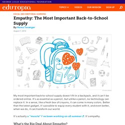 Empathy: The Most Important Back-to-School Supply