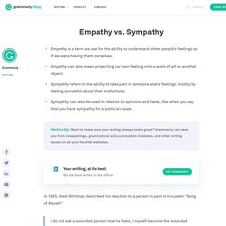 Empathy vs. Sympathy—Learn the Difference