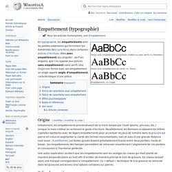 Empattement (typographie)