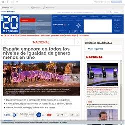 España empeora en todos los niveles de igualdad de género menos en uno