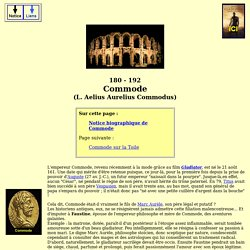 Empereurs romains - Commode (L. Aelius aurelius commodus)