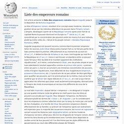 Liste des empereurs romains