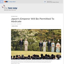 Japan's Emperor Will Be Permitted To Abdicate