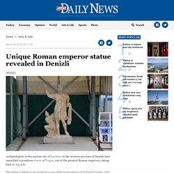 Unique Roman emperor statue revealed in Denizli