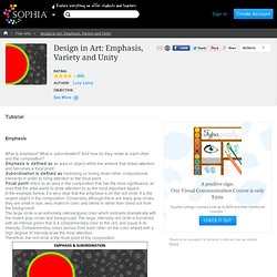 Design in Art: Emphasis, Variety and Unity Tutorial