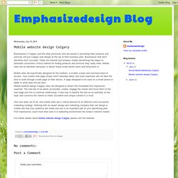 Emphasizedesign Blog: Mobile website design Calgary