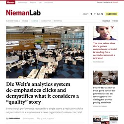 "Die Welt's analytics system de-emphasizes clicks and demystifies what it considers a ""quality"" story"