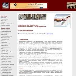 Bail emphythéotique-service juridique