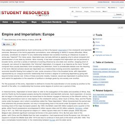 Empire and Imperialism: Europe -