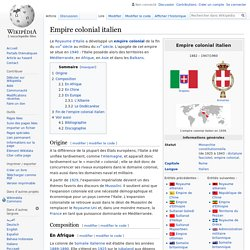 Empire colonial italien