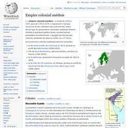 Empire colonial suédois