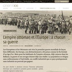 L'empire ottoman et l'Europe : à chacun sa guerre