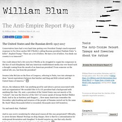 The Anti-Empire Report #149 – March 7th, 2017 – William Blum
