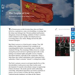 The Empire of Lies: The twenty-first century will not belong to China.