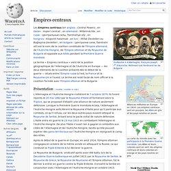 Les Empires centraux