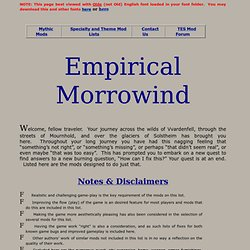 Empirical Morrowind