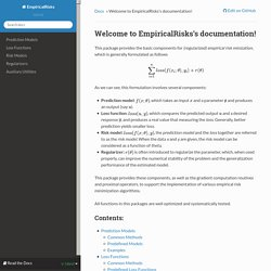 Welcome to EmpiricalRisks's documentation! — EmpiricalRisks 0.2.3 documentation