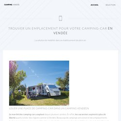 Emplacement de camping-car en vendée : la mobilité