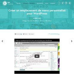 Créer un emplacement de menu personnalisé pour WordPress