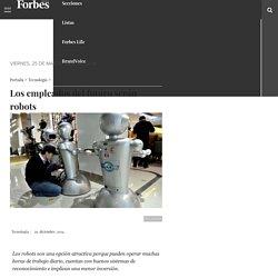 Los empleados del futuro serán robots