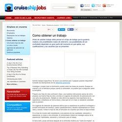 Empleos en cruceros - Como obtener un trabajo