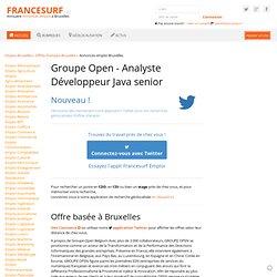Emploi Groupe Open - Analyste Développeur Java senior