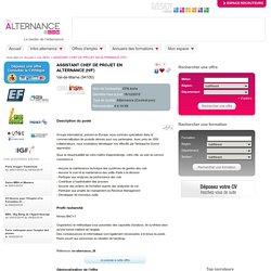 Offre d'emploi ASSISTANT CHEF DE PROJET EN ALTERNANCE (H/F) Saint-Maur-des-Fossés