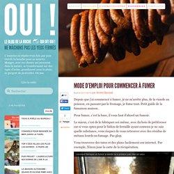 Mode d'emploi pour commencer à fumer - Oui ! Le blog de La Ruche qui dit Oui.