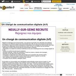 Offre d'emploi Un chargé de communication digitale (h/f) - Hauts-de-Seine, ÎLE-DE-FRANCE