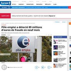 28/11 Pôle emploi a détecté 89 millions d'euros de fraude en neuf mois