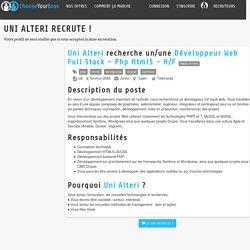 Offre d'emploi Développeur Web Full Stack - Php Html5 - H/F - Uni Alteri