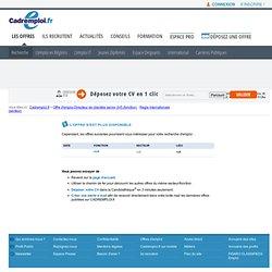 Offre d'emploi Directeur de clientèle senior (h/f) - Paris sur CADREMPLOI