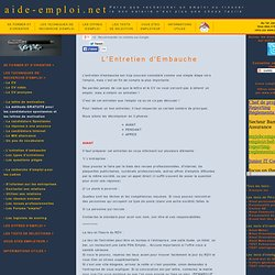 www.aide-emploi.net passer un entretien d'embauche