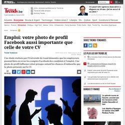 Emploi: votre photo de profil Facebook aussi importante que celle de votre CV