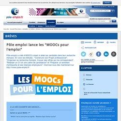"""Pôle emploi lance les """"MOOCs pour l'emploi"""""""