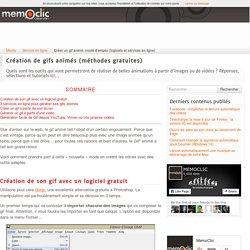 Créer un gif animé, mode d'emploi (logiciels et services en ligne)