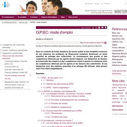 G(P)EC: mode d'emploi (Notions-Cles.GPECmodedemploi) - XWiki