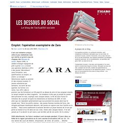 Emploi: l'opération exemplaire de Zara - Les dessous du social