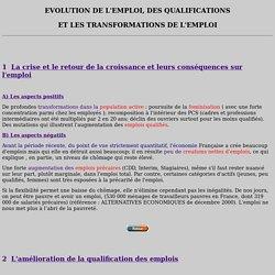 Emploi et qualification