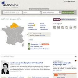 Emploi avec Regions Job - Des offres d'emploi dans votre région
