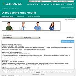 Emploi dans le social : Offres d'emploi dans le social et médico-social