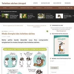 Mode d'emploi des toilettes sèches - Toilettes sèches Lécopot